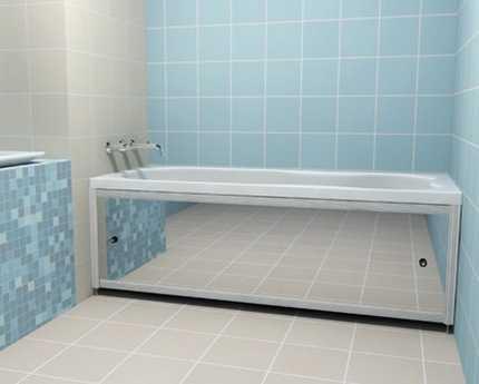 Как сделать зеркальный экран под ванну дельное руководство